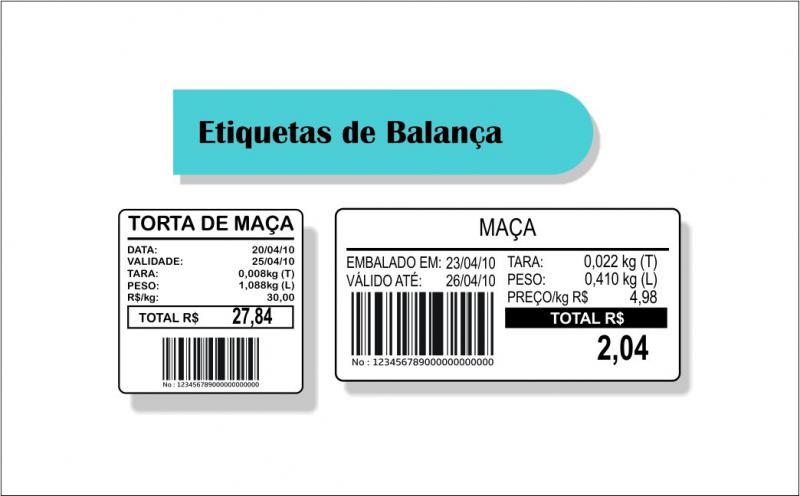 Etiqueta para balança